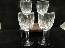 """38 Waterford Kildare 4 Water / Wine Goblets 6 1/2"""" Mint Condition Signed"""