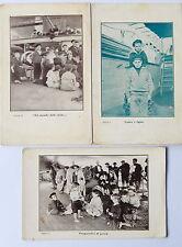 Lotto di tre cartoline anni 20 Nave Asilo Caracciolo