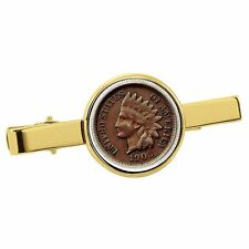 New Smithsonian Institution Indian Penny Goldtone Coin Tie Clip 30193
