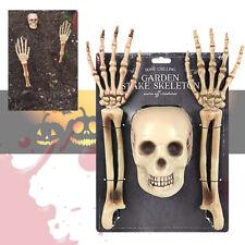 3 pc Halloween Skeleton Garden Stakes Outdoor Scary Horror Prop Prank Decoration