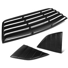 For 2008-2019 Dodge Challenger Rear+Quarter Side Window Scoop Louvers Sun Shade