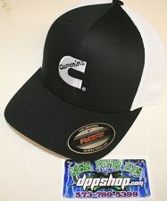 Dodge Cummins truckers mesh summer cummings hat black white cap fitted flex fit!
