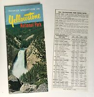Yellowstone National Park Collectible Travel Brochure Vintage 1963 Map Lodge