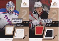 08-09 SP Game Used Henrik Lundqvist /50 GOLD Dual Jersey Fabrics NY Rangers 2008