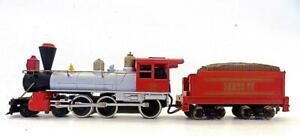 TYCO HO 4-6-0 Santa Fe Wood Burning 4-6-0 Loco & Tender Excellent & Tested (2)