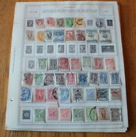 A51 Lot of Greece Stamps on 15 Minkus binder Pages
