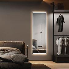 59x20in Led Full-Length Lighted Mirror Wall Mounted Frameless Full Body Mirror
