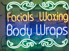 "New Facial Waxing Body Wraps artwork Real glass Neon Sign 32""x24"" Beer Lamp Ligh"
