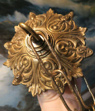 Acanthus Bronze Brass Ceiling canopy part French with chain mounting hardware
