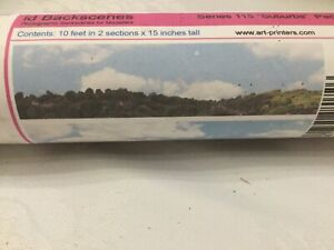 "Model Railway Backscenes - Suburbs Pack A. 10 Feet In 2 Sections X 15"" Tall. New"