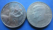 Niue 5 Dollar 1987 Steffi Count and 1988 Kennedy in Unc. (2394)