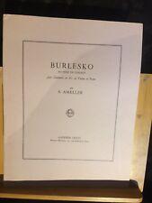 Ameller Burleske bis pour concert partition clarinette ou violon et piano Leduc