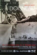 "DOISNEAU ORIGINAL 2007 FRENCH EXHIBITION PARIS POSTER 63"" X 47"" ROLLED NEW RARE"