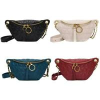 Women PU Leather Fanny Chest Bag Fashion Waist Purse Shoulder Crossbody Bag S1