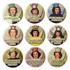 Retro Snark Girls Fridge Magnets Set 9pc 55mm Novelty Attitude Funny Rude Women