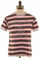 NORTH SAILS Mens Graphic T-Shirt Top Small Multicoloured Striped Cotton  HD08