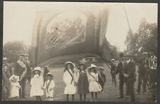 Postcard Lyndhurst New Forest Hampshire village Sunday Parade banner 1911 RP #3