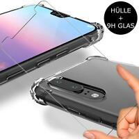 Hülle 360 Grad Handyhülle Klar + 9H Panzer Folie Gorilla Glas Display Schutz