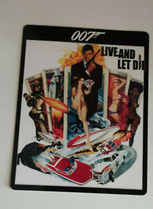 007 LIVE AND LET DIE  james bond Glossy Steelbook Magnet Cover (NOT LENTICULAR)