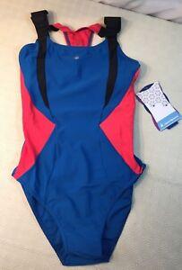 Aqua Sphere Women's Siskin Swimsuit in Blue with Body Control Size 34 RRP £44