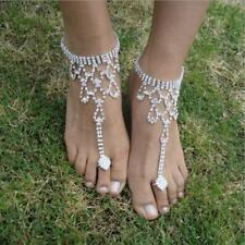 Crystal Foot Anklet Beach Wedding Casual Barefoot Sandals Hollow out Hot  Women