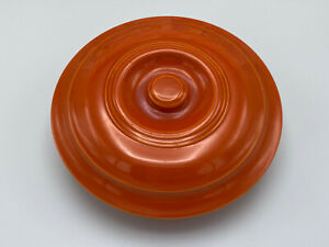 Vintage Homer Laughlin Fiesta Promotional Casserole Lid Only Radioactive Red