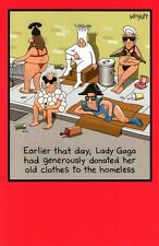 Funny Homeless Lady Gaga Birthday Greeting Card Traces Of Nuts Humour Cards