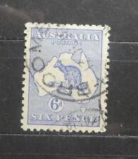 TIMBRES AUSTRALIE: vieux T - 1912/1919 - Kangourou sur carte Australie (A457)
