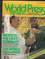 World Press Review Magazine July 1981 FIDEL CASTRO & Mexico Japan