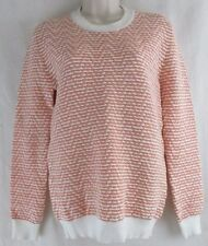 JONATHAN SAUNDERS WOMENS LONG SLEEVE CREW NECK JENKINS JUMPER ZIG ZAG RIDGE KNIT