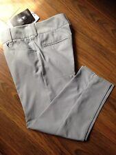 ADIDAS Ladies CLIMALITE Lightweight GOLF Trousers Capri PANTS Chrome Grey 8 New