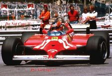 GILLES VILLENEUVE FERRARI 126 CK Winner Monaco Grand Prix 1981 fotografia 9