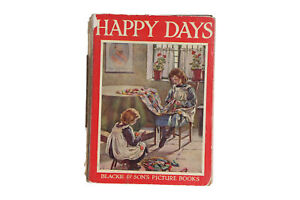 An old Happy Days Blackie & Sons Picture Book Rare Louis Wain illustration