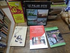 lot de 5 livres sur le japon : le palais d'été -  j'ai vu vire le Japon