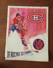 1968 1969 NHL Montreal Canadiens vs Pittsburgh Penguins Game Program VG cond