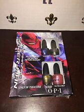 NEW OPI The Amazing Spiderman Set Of 4 Mini Nail Polishes/ Lacquers