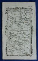 Rare antique road map, NORTHUMBERLAND, HEDGELEY MOOR, M. Armstrong, 1776