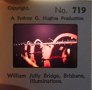 William Jolly Bridge, Brisbane, Illuminations 35mm Colour Slide