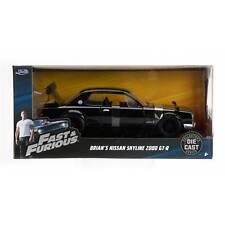 Fast Furious Model Diecast Nissan Skyline 2000 Gt-r Black Brian 1/24 Jada Toys