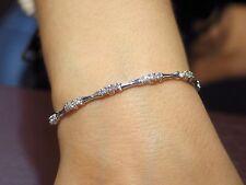 2.01 CT Natural round cut diamond tennis bracelet VS2/F 14K White Gold