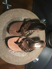 """""""Unlisted"""" By Kenneth Cole Brown Open Toe PUMP Heels Size 6,5"""