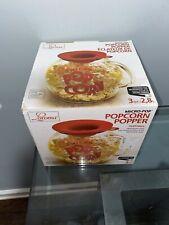 Laroma Micro-Pop Microwave Popcorn Popper 3Qt Temperature Safe Glass Red