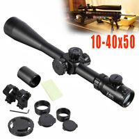Hunting 10-40x50 IR Long Range Rifle scope Side Wheel Parallax Optic Sight