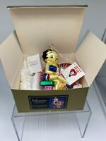 "Christmas Ornament Glass KURT ADLER POLONAISE BETTY BOOP in Box Large 5"" NWT"