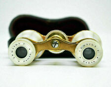 Antique Opera Glasses LeMaire Paris France Mother Of Pearl MOP Binoculars Case