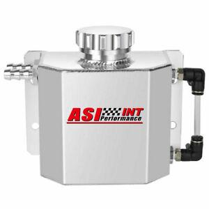 1L Aluminum Radiator Coolant Overflow Bottle Recovery Water Tank Bottle Black US