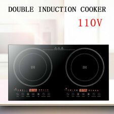 Portable Induction Cooktop Countertop Cooker Double Burner Cooktop Stove