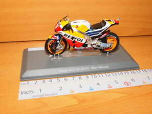 HONDA RC213V 2017 MARC MARQUEZ 1/18 MOTO-GP RED BULL REPSOL MICHELIN #93