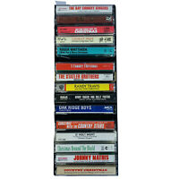 Lot of 15 Country Christmas Music Cassette Tapes variety of Artists w/case