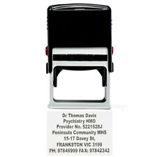 Personalised Self Inking Rubber Stamp Custom Business Name Address MAX 9 lines